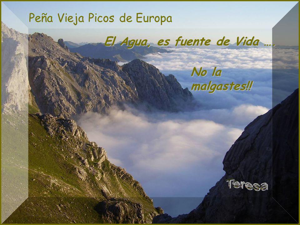 Teresa Peña Vieja Picos de Europa El Agua, es fuente de Vida ….