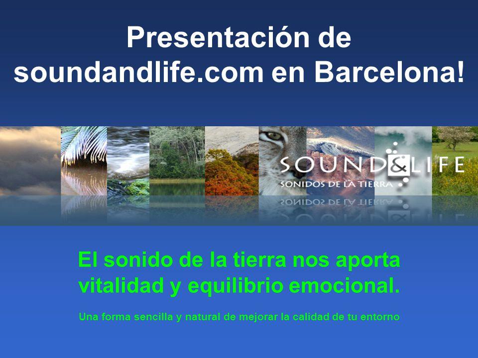 Presentación de soundandlife.com en Barcelona!