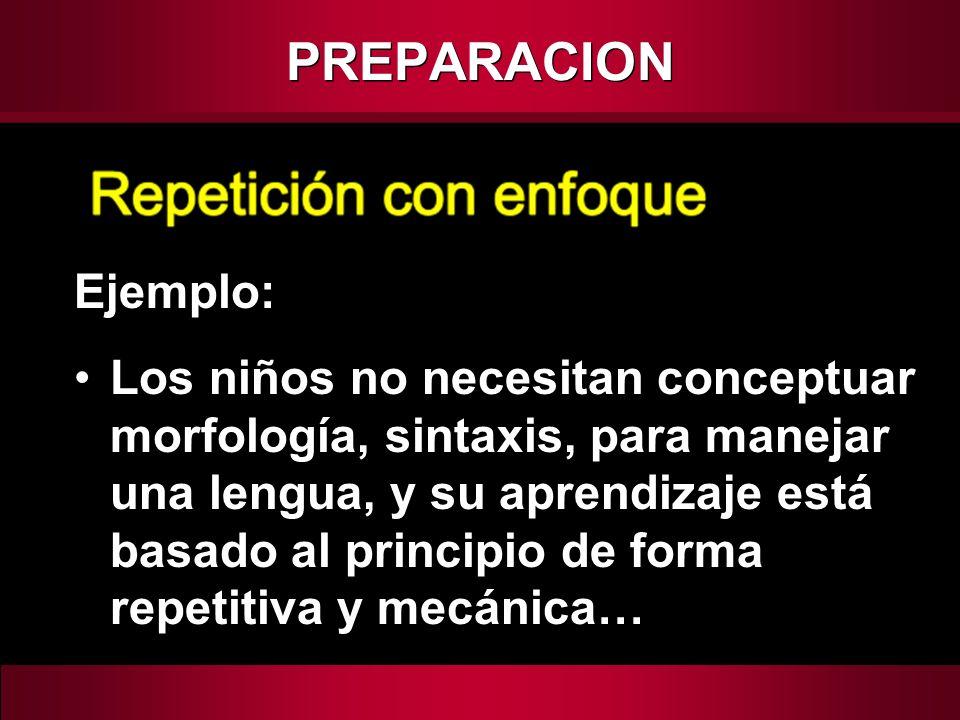 PREPARACION Ejemplo: