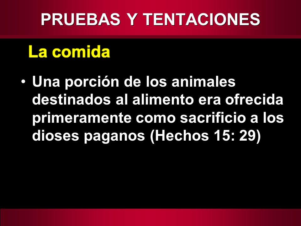 PRUEBAS Y TENTACIONES