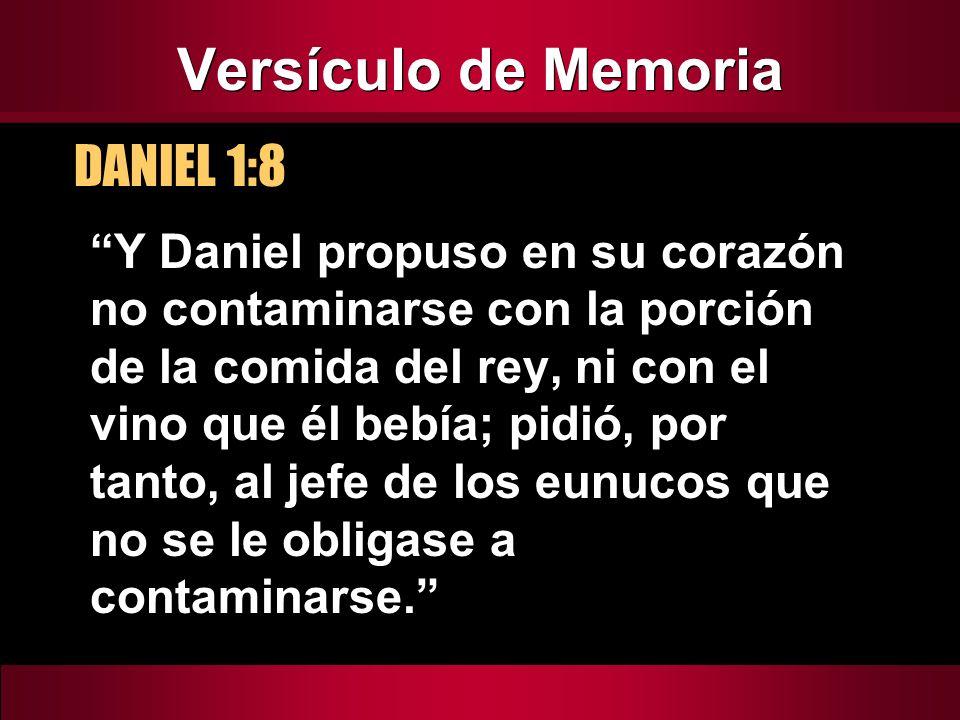 Versículo de Memoria DANIEL 1:8