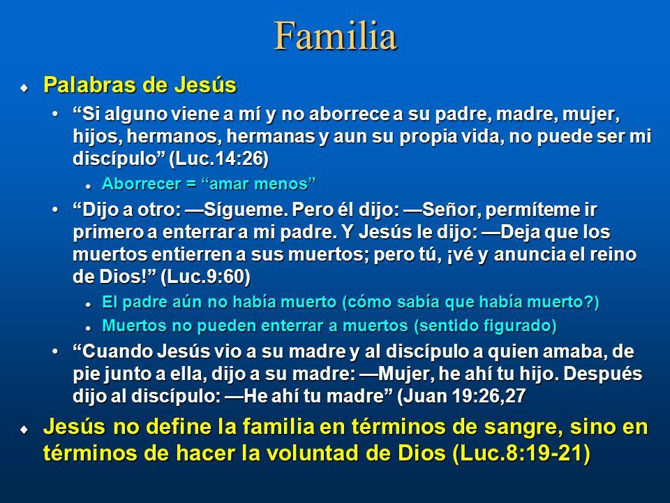 Familia Palabras de Jesús