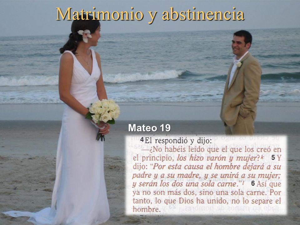 Matrimonio y abstinencia