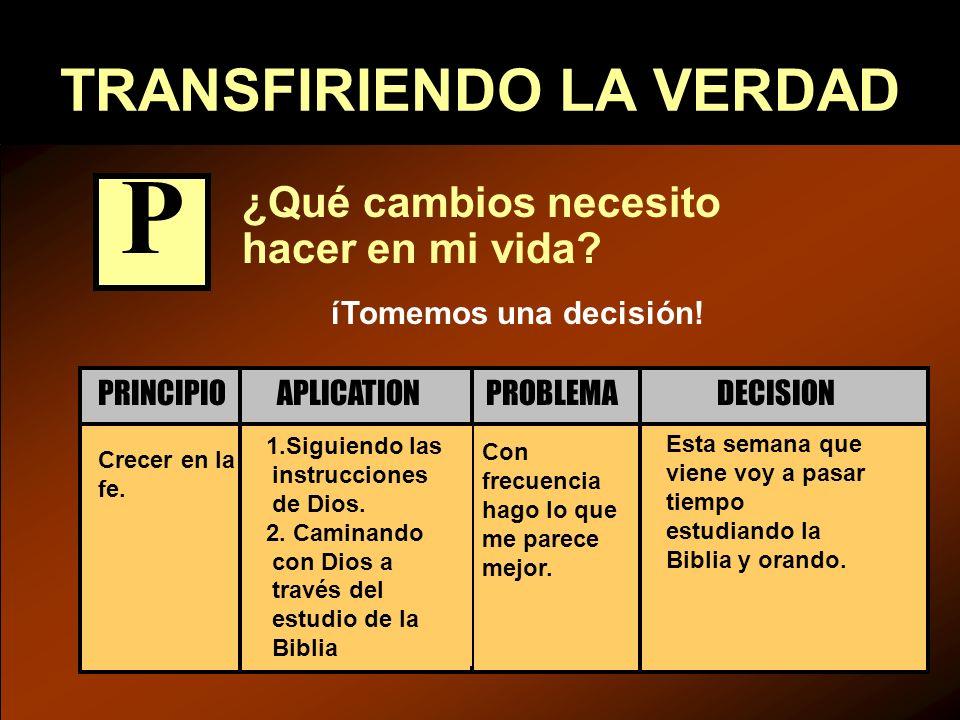 TRANSFIRIENDO LA VERDAD