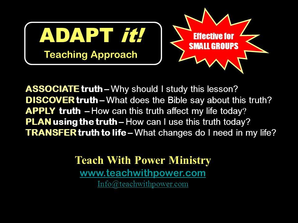 ADAPT it! Teaching Approach
