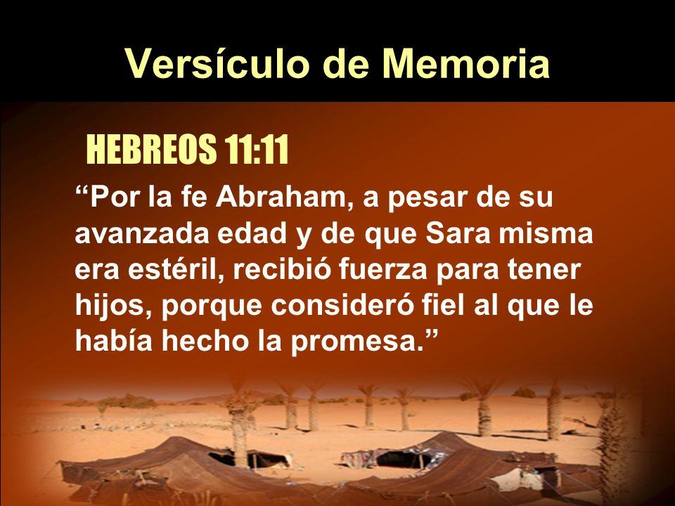 Versículo de Memoria HEBREOS 11:11