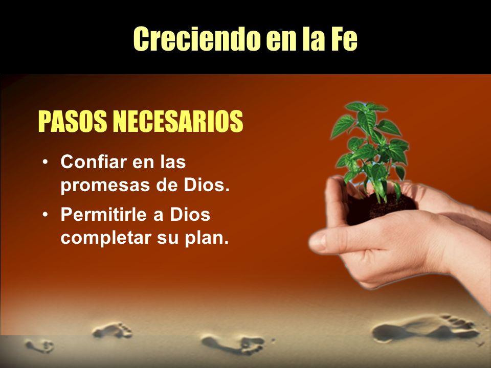 Creciendo en la Fe PASOS NECESARIOS Confiar en las promesas de Dios.