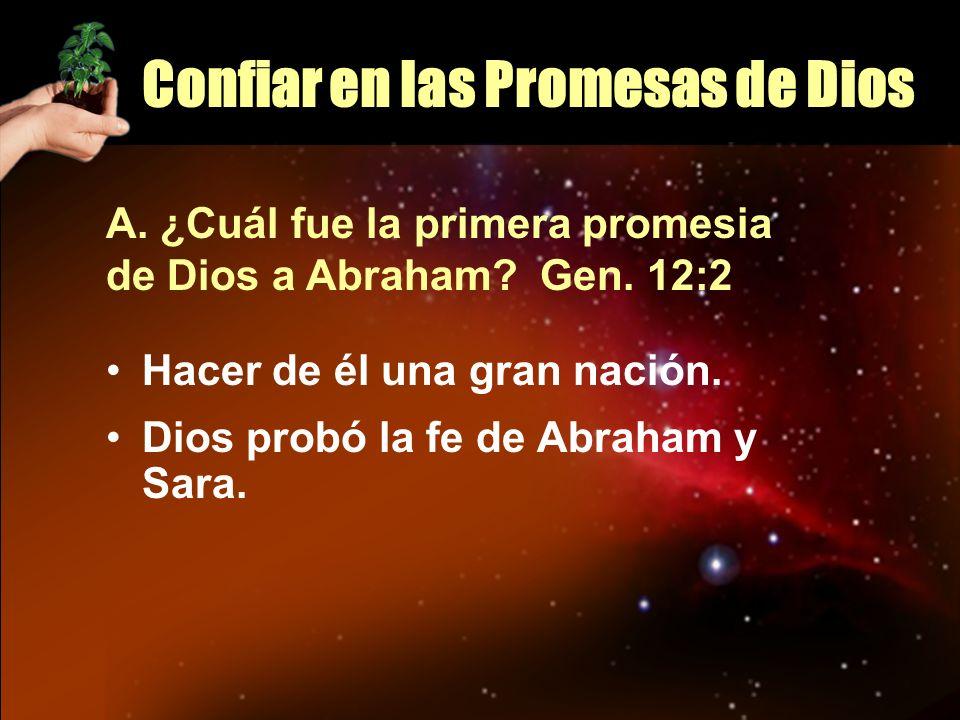 Confiar en las Promesas de Dios