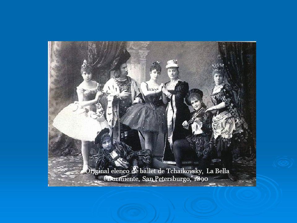Original elenco de ballet de Tchaikovsky, La Bella Durmiente, San Petersburgo, 1890