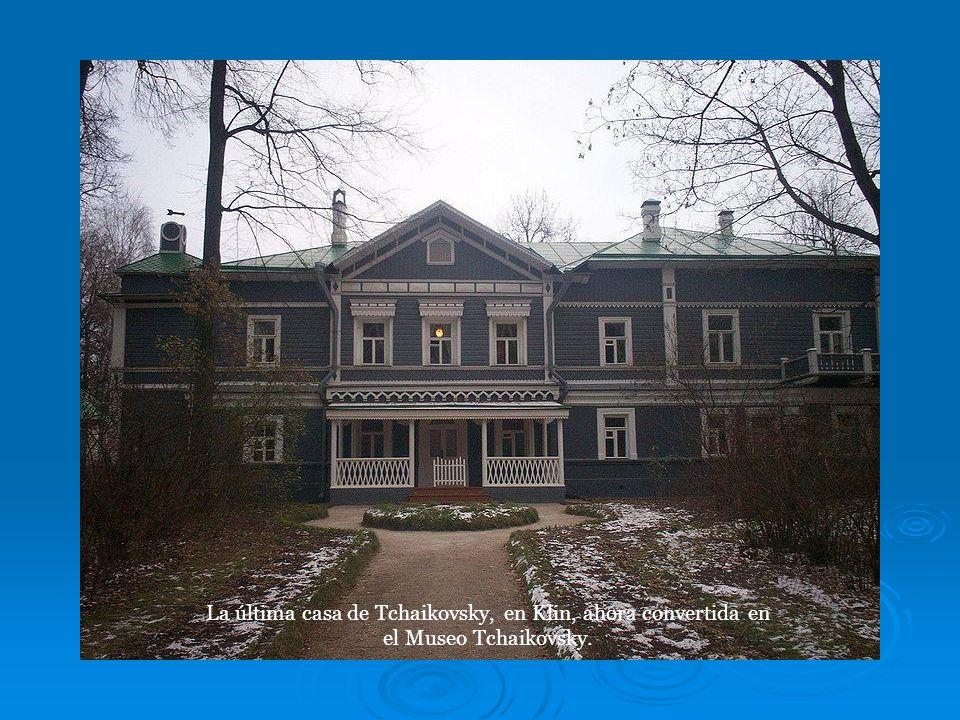 La última casa de Tchaikovsky, en Klin, ahora convertida en el Museo Tchaikovsky.