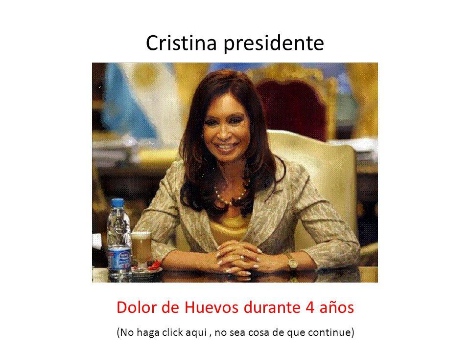 Cristina presidente Dolor de Huevos durante 4 años