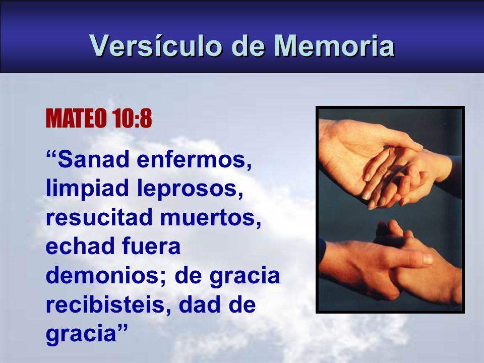 Versículo de Memoria MATEO 10:8