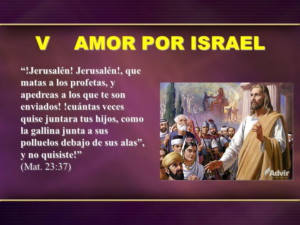 V AMOR POR ISRAEL