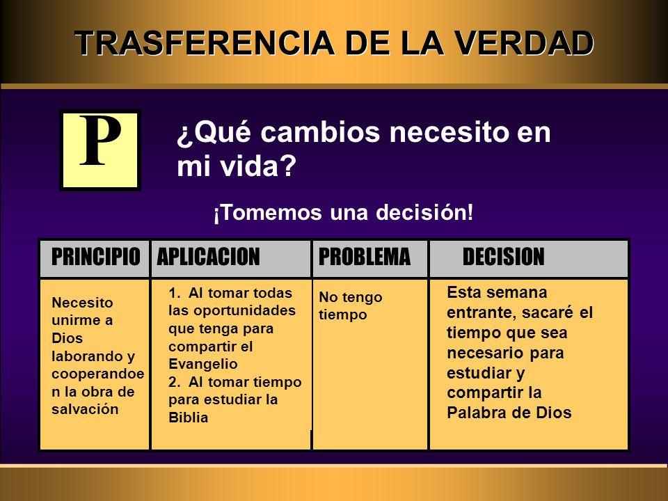 TRASFERENCIA DE LA VERDAD