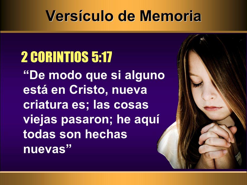 Versículo de Memoria 2 CORINTIOS 5:17