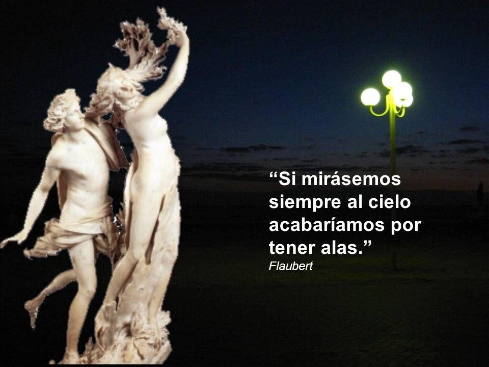 Si mirásemos siempre al cielo acabaríamos por tener alas. Flaubert