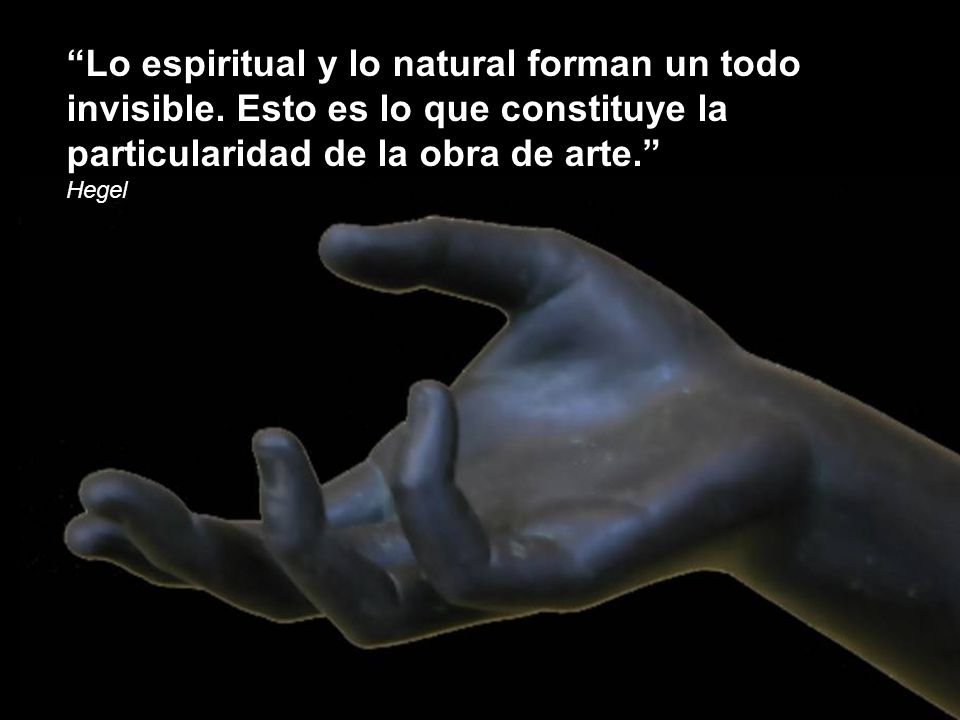 Lo espiritual y lo natural forman un todo invisible