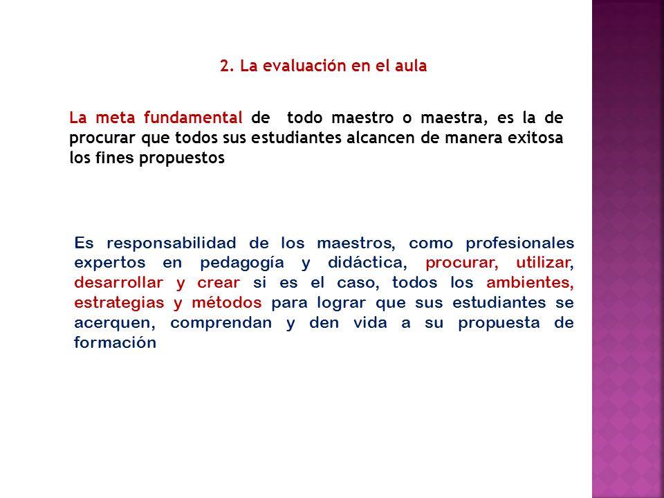 2. La evaluación en el aula