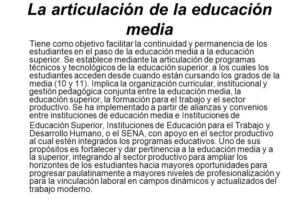 La articulación de la educación media