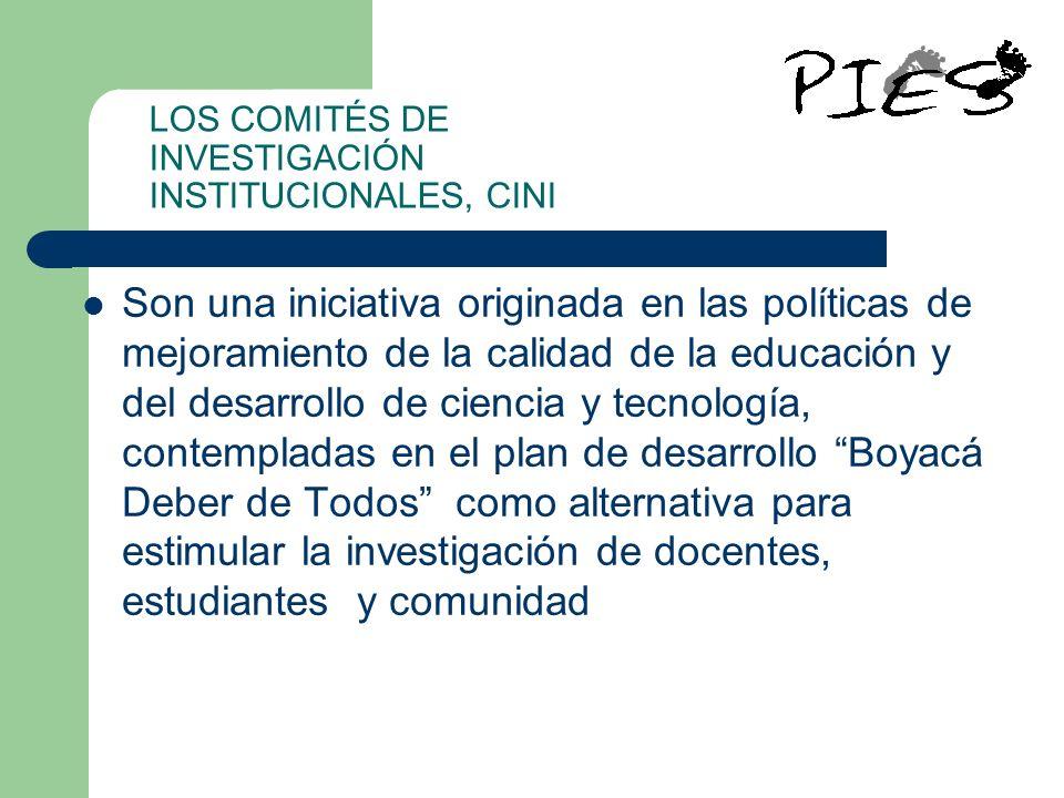 LOS COMITÉS DE INVESTIGACIÓN INSTITUCIONALES, CINI