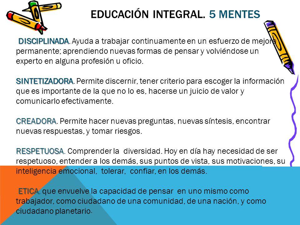 Educación Integral. 5 Mentes