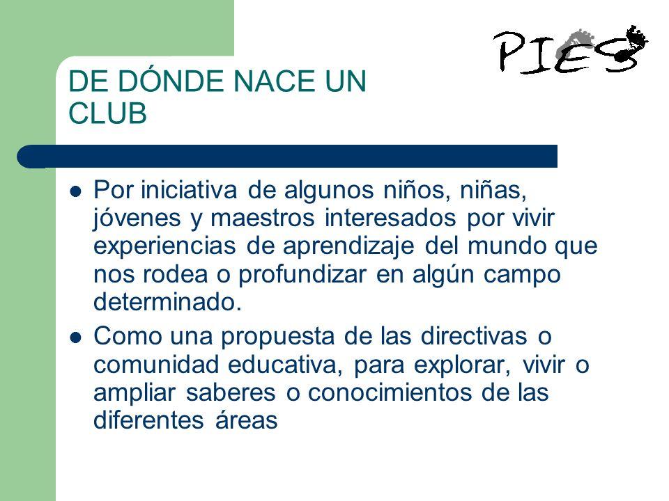 DE DÓNDE NACE UN CLUB