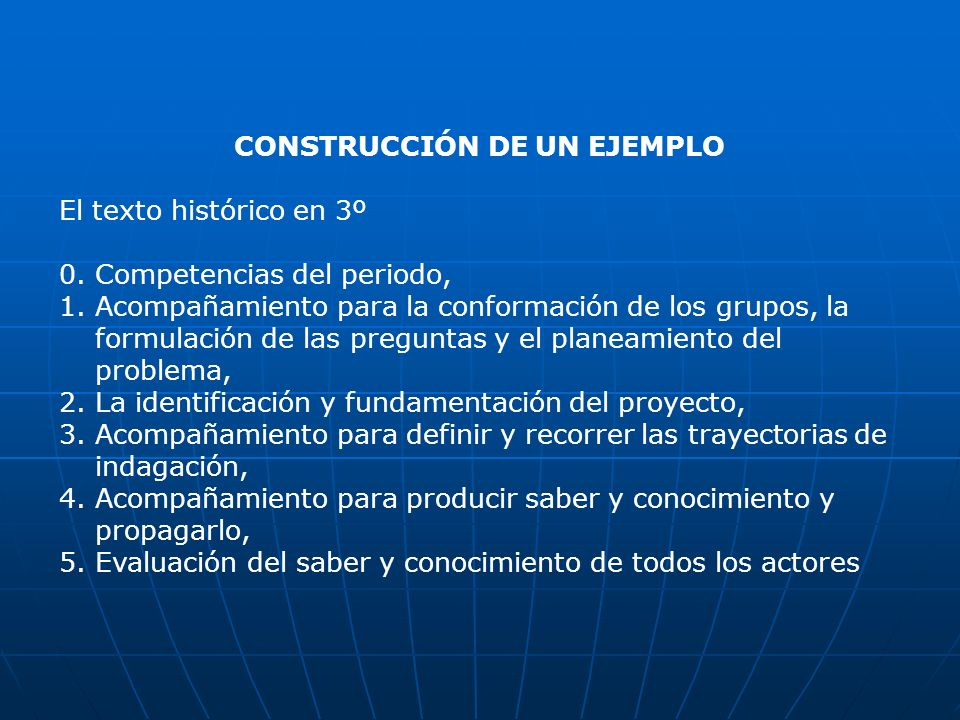 CONSTRUCCIÓN DE UN EJEMPLO