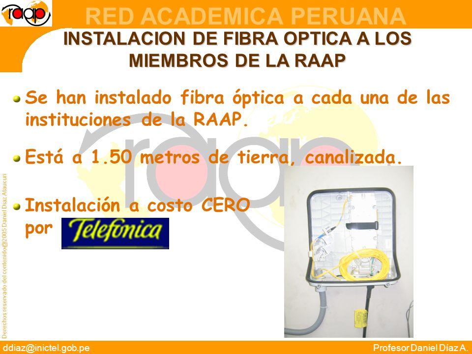 INSTALACION DE FIBRA OPTICA A LOS