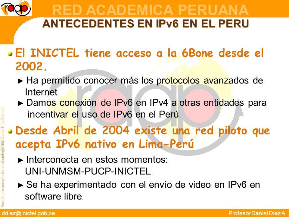 ANTECEDENTES EN IPv6 EN EL PERU