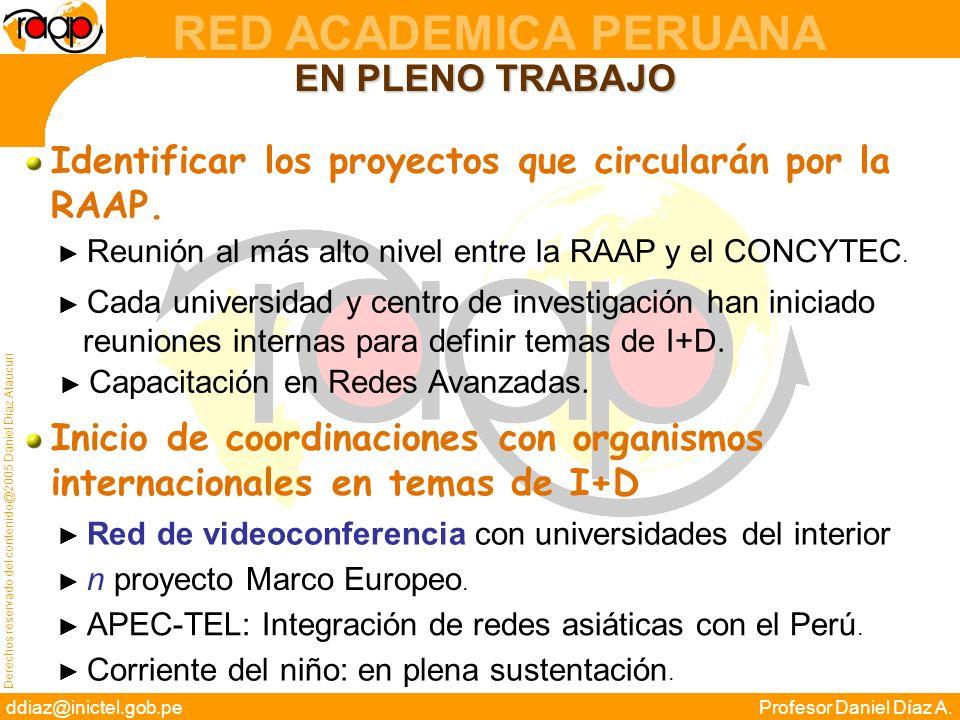 Identificar los proyectos que circularán por la RAAP.
