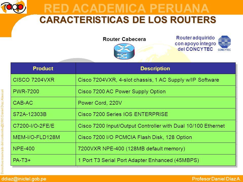 CARACTERISTICAS DE LOS ROUTERS