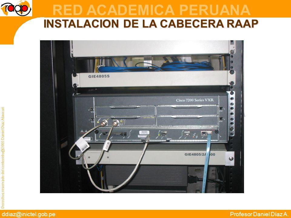 INSTALACION DE LA CABECERA RAAP