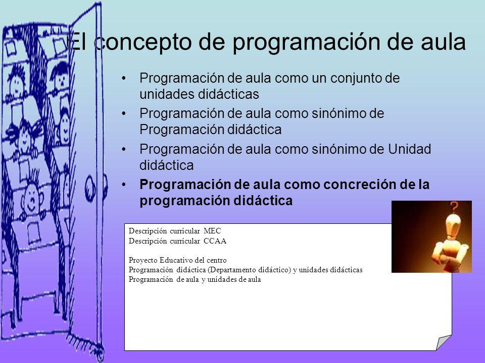 El concepto de programación de aula