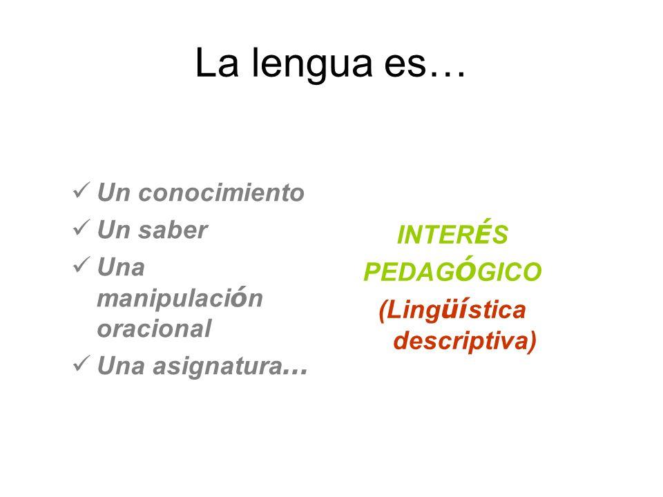 (Lingüística descriptiva)