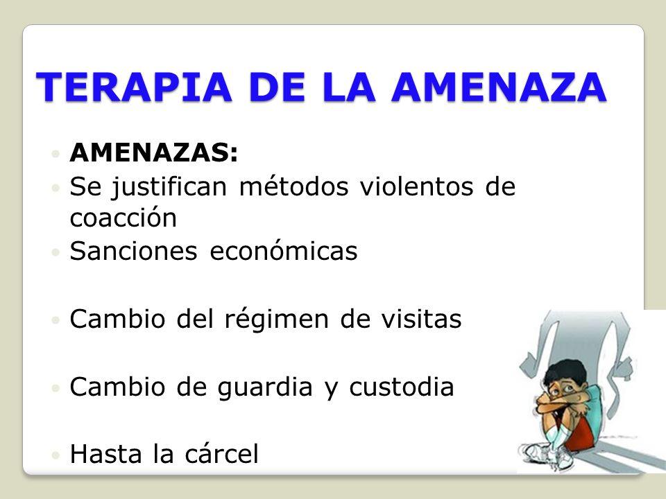 TERAPIA DE LA AMENAZA AMENAZAS: