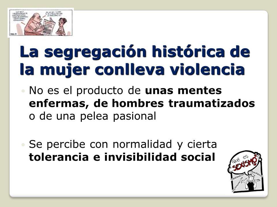 La segregación histórica de la mujer conlleva violencia