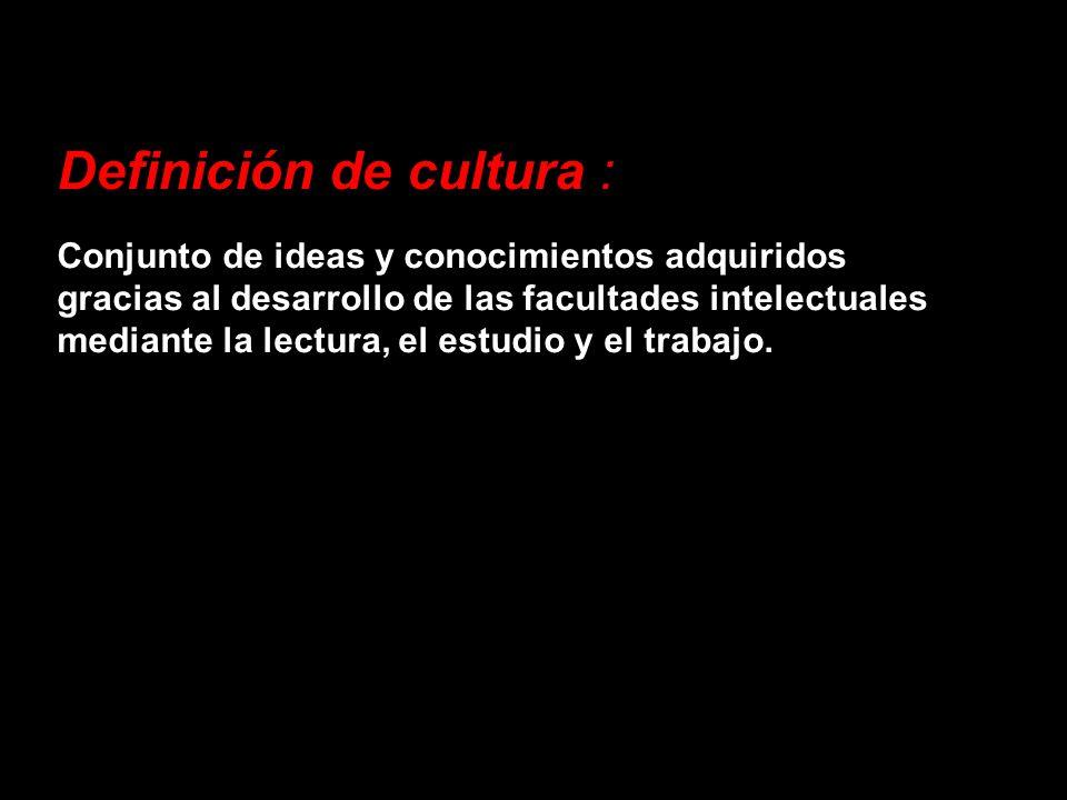 Definición de cultura :