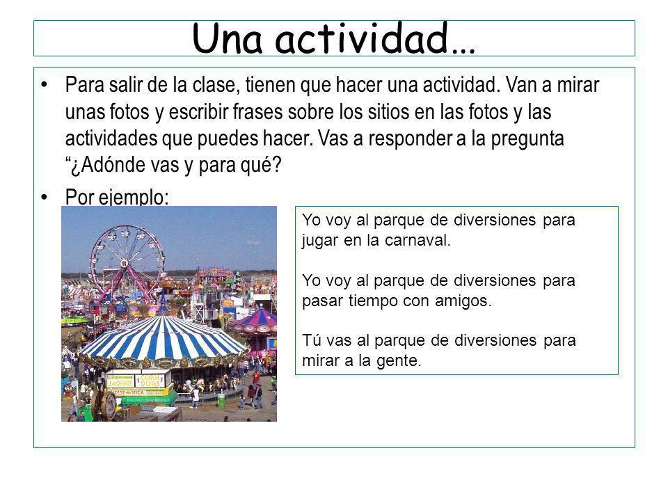 Una actividad…