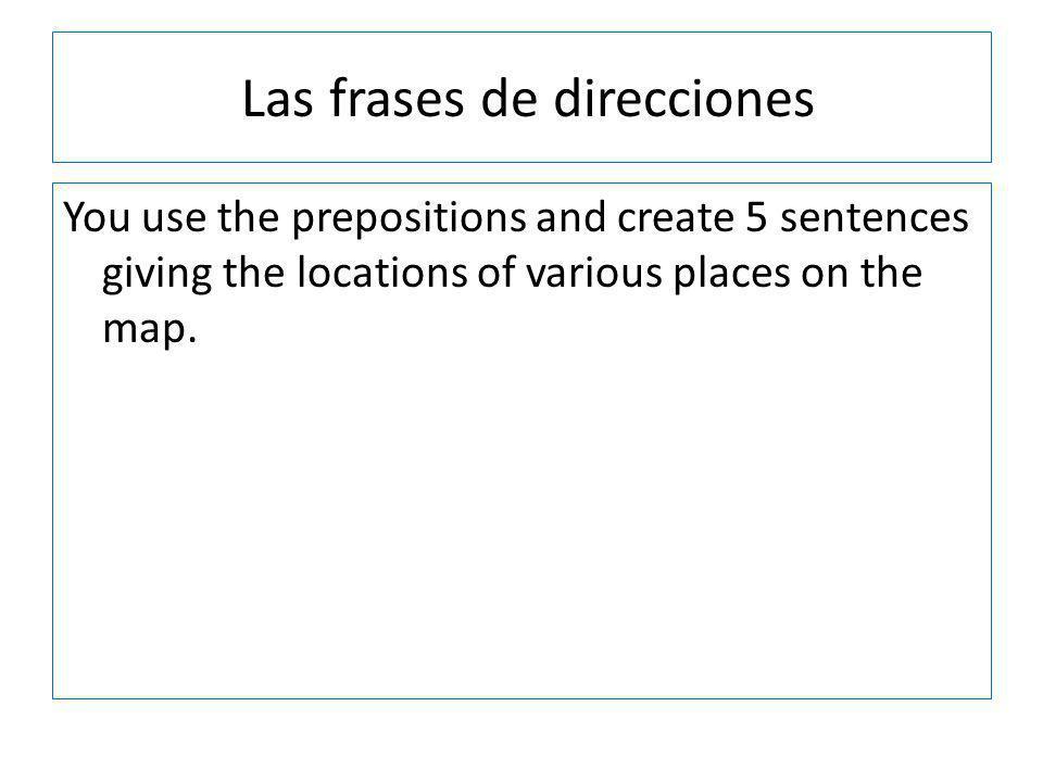 Las frases de direcciones