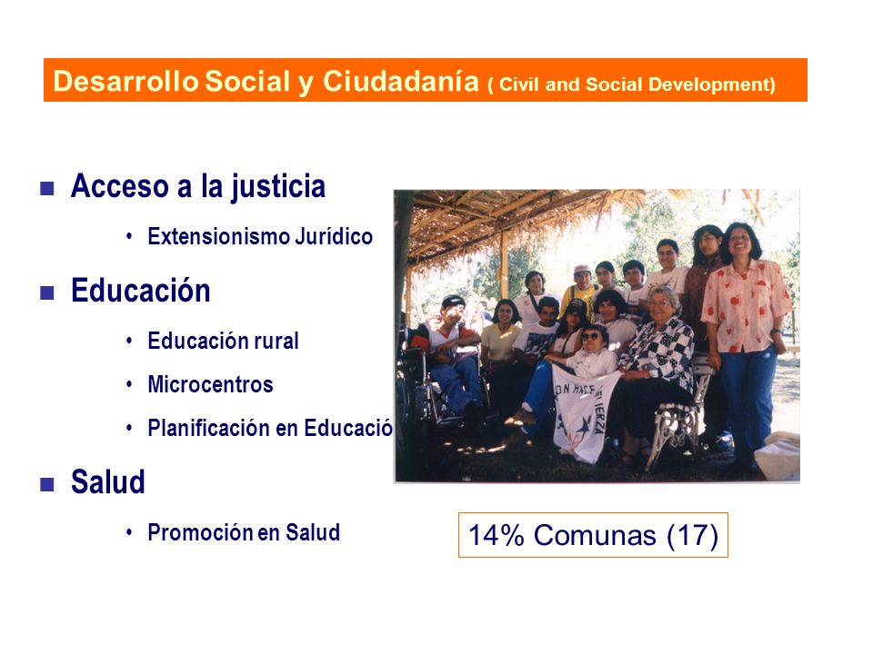 Acceso a la justicia Educación Salud