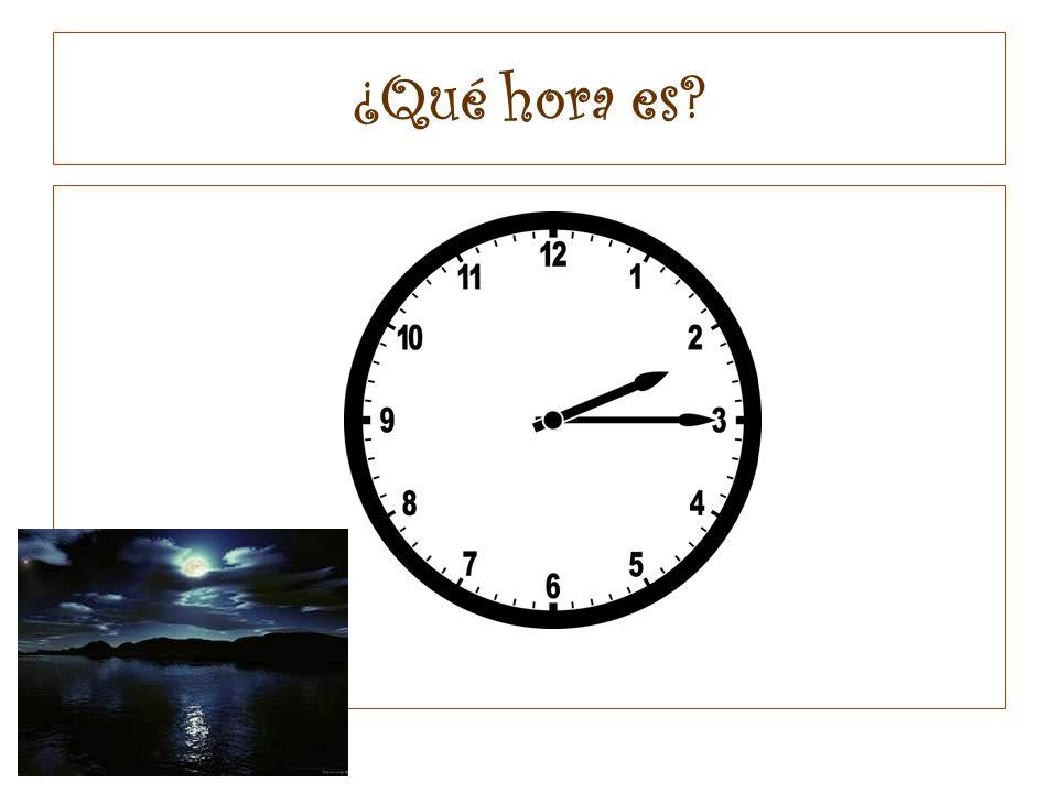 ¿Qué hora es