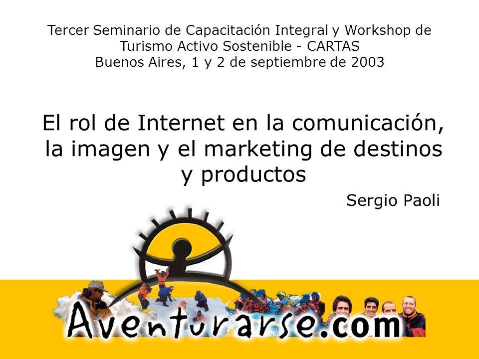 Tercer Seminario de Capacitación Integral y Workshop de Turismo Activo Sostenible - CARTAS Buenos Aires, 1 y 2 de septiembre de 2003