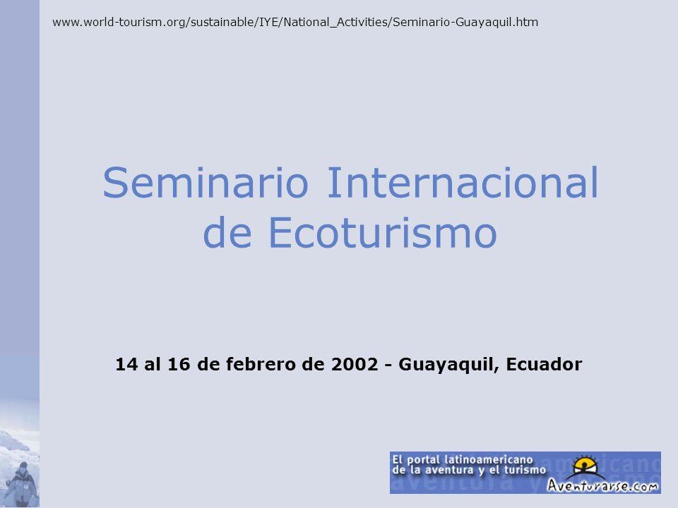 Seminario Internacional de Ecoturismo