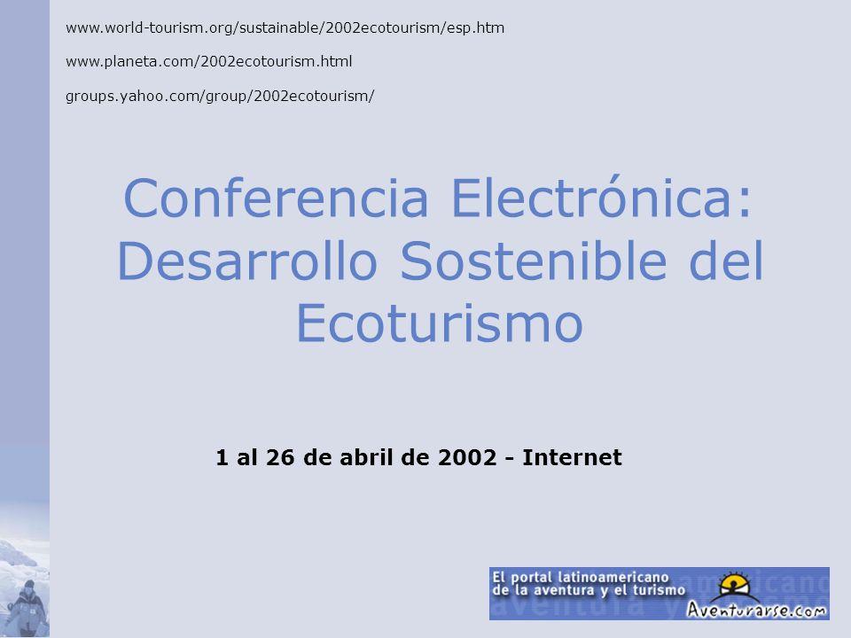 Conferencia Electrónica: Desarrollo Sostenible del Ecoturismo