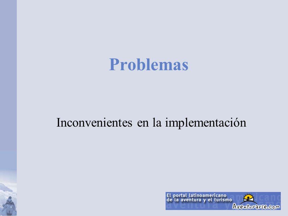 Inconvenientes en la implementación