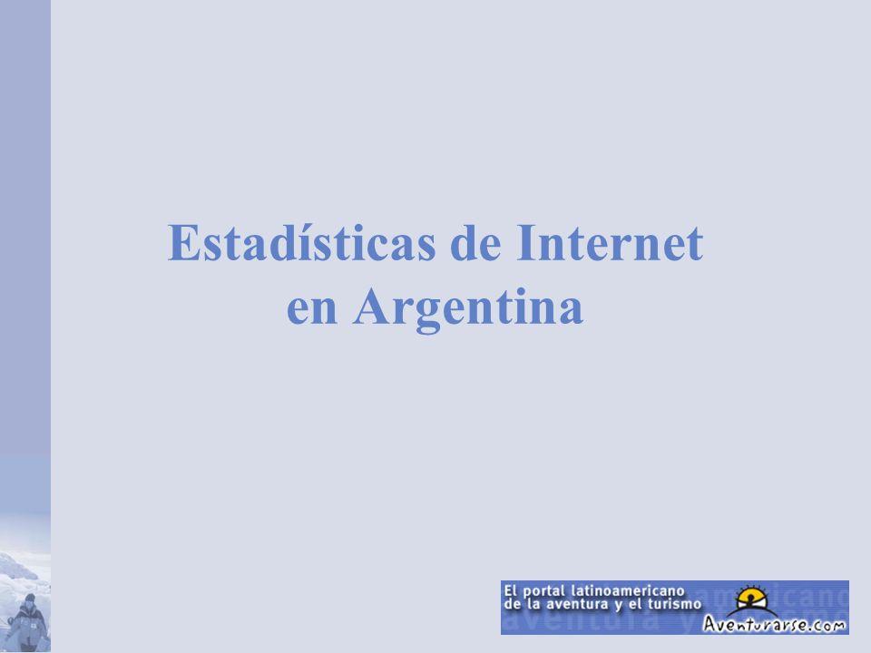 Estadísticas de Internet en Argentina