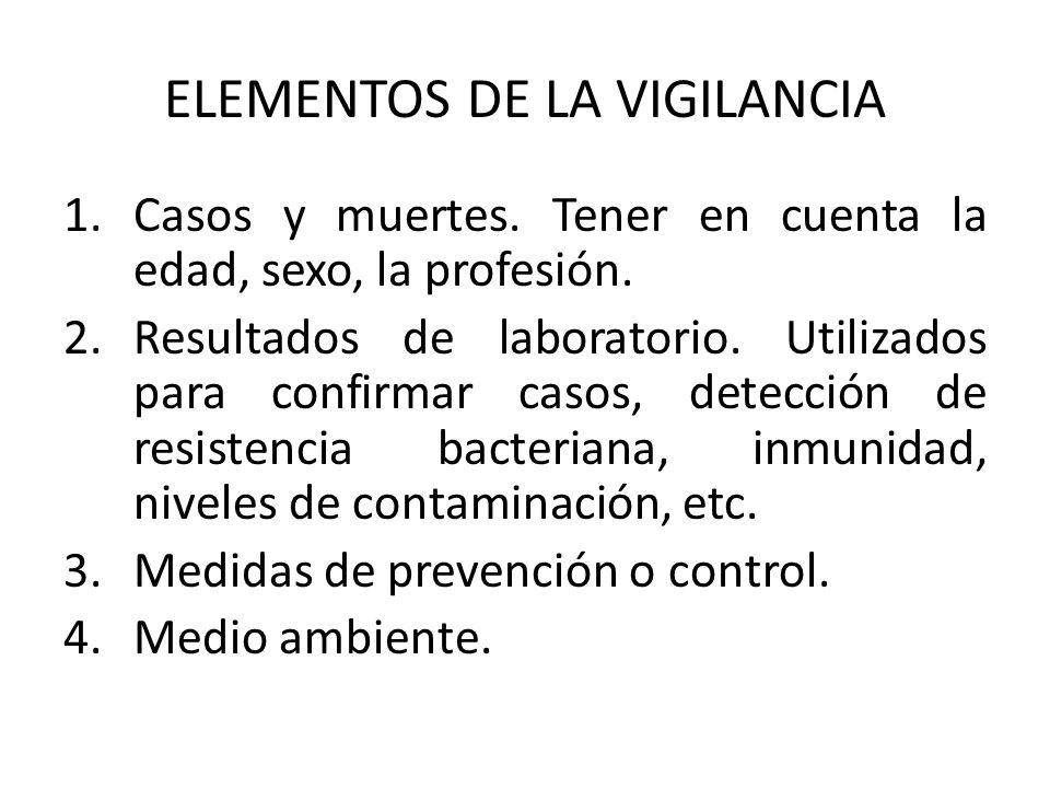 ELEMENTOS DE LA VIGILANCIA