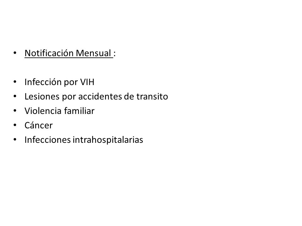 Notificación Mensual :