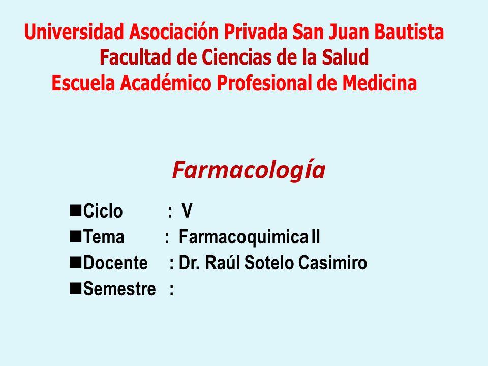 Farmacología Universidad Asociación Privada San Juan Bautista