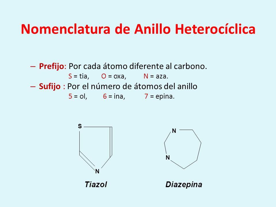 Nomenclatura de Anillo Heterocíclica